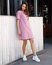 Платье-футболка женское розовое бренд ТУР модель Сарина (Sarina) размер  S, M, L, фото 4