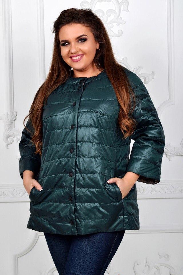 Куртка женская артикул 203 зеленый / темно зеленый бутылочный