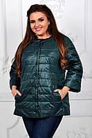 Куртка женская артикул 203 зеленый / темно зеленый бутылочный, фото 1