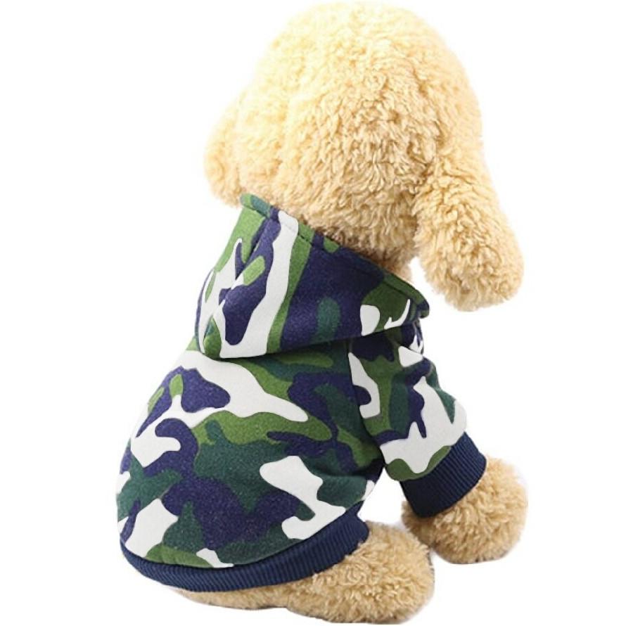 Толстовка для собак «Камуфляж», зеленый, джемпер, кофта для собак, одежда для собак