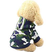 Толстовка для собак «Камуфляж», зеленый, джемпер, кофта для собак, одежда для собак, фото 1