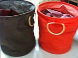 Корзина для игрушек, мешковина, Н39 см, D37 см, декоры для дома, Днепропетровск, фото 3