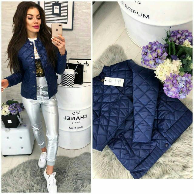Куртка женская 310, новинка 2019, цвет Синий