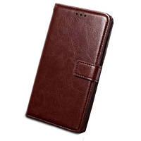 Чехол книжка для телефона Samsung J5 2017 коричневый
