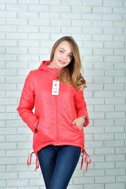 Куртка-парка утепленная модель 210 цвет коралл