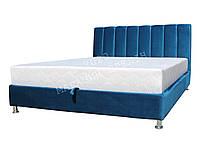 Двуспальная кровать Клеопатра 1,6 в обивке под бархат с ортопедическим матрасом, подъёмным механизмом и нишей