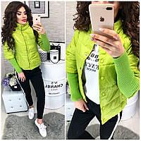 Куртка женская,  205, цвет желто-зеленый, фото 1