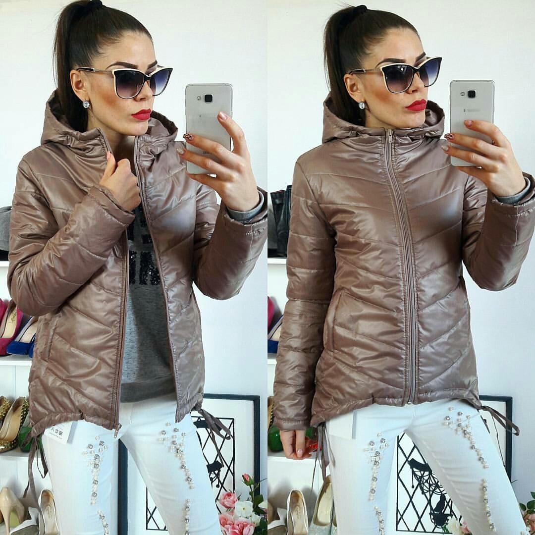Куртка-парка женская, модель  210,кофейного цвета