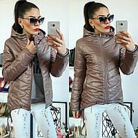 Куртка-парка женская, модель  210,кофейного цвета, фото 1