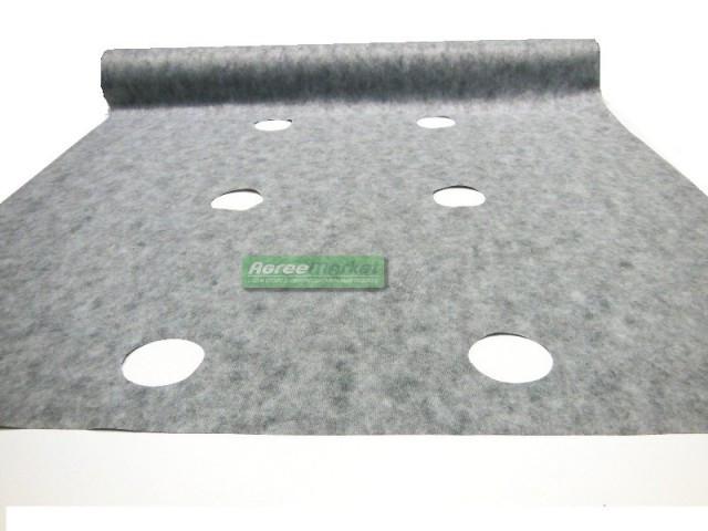 Агроволокно 50 грам/ м.кв. 1,07*50 м  черно-белое с перфорацией Агрин
