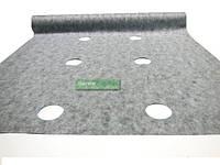 Агроволокно 50 грам/ м.кв. 1,07*50 м  черно-белое с перфорацией Агрин, фото 1