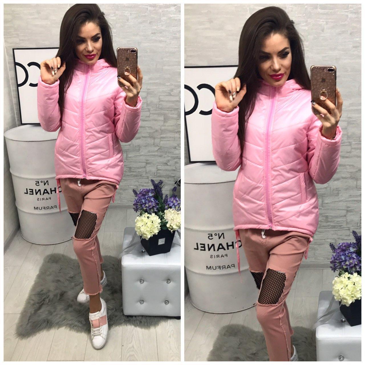 Куртка-парка женская,  модель 210,розовый