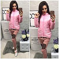 Куртка-парка женская,  модель 210,розовый , фото 1
