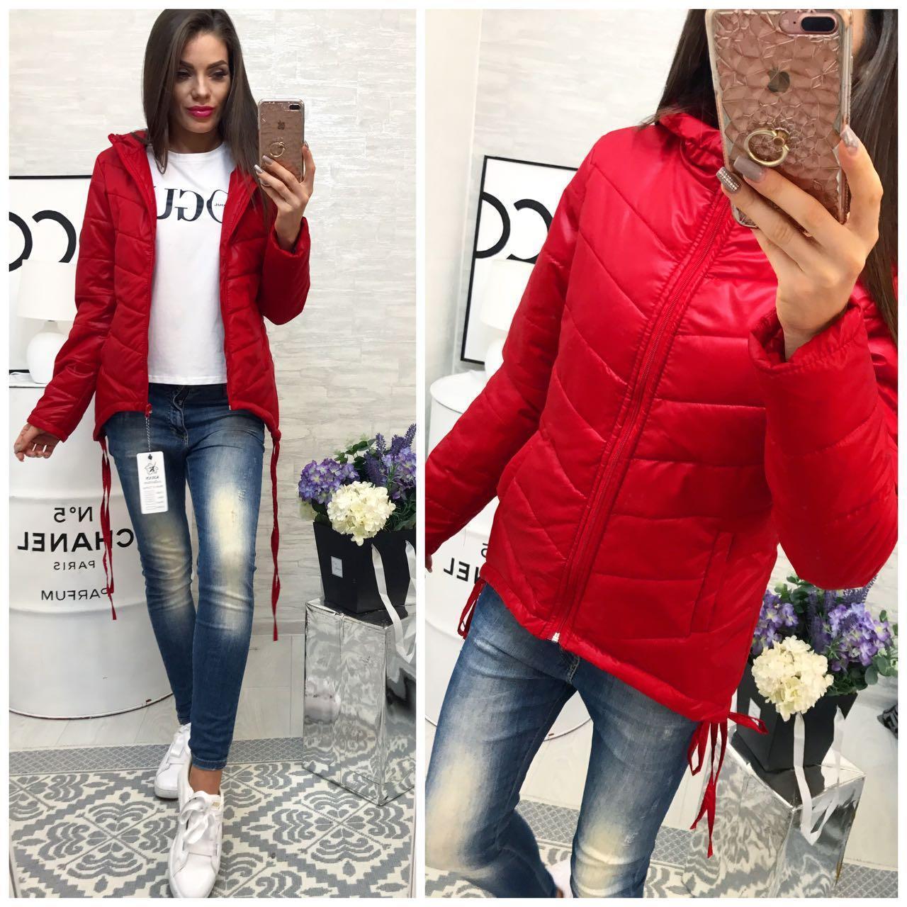 Куртка-парка женская,  модель 210,красный
