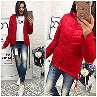 Куртка-парка женская,  модель 210,красный, фото 1