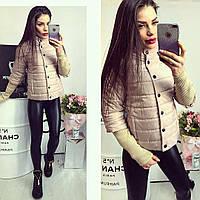 Куртка женская,  205, цвет светло-бежевый, фото 1