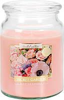 Ароматическая свеча Bispol в стеклянном стакане с крышкой №SND99-901 - Секретный сад