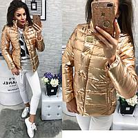 Куртка-новинка,  модель 211/2  бронзовый, фото 1