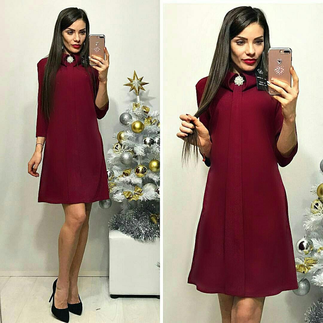 Сукня жіноча, модель 770, бордовий