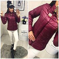 Куртка женская зима модель 211/2 марсала