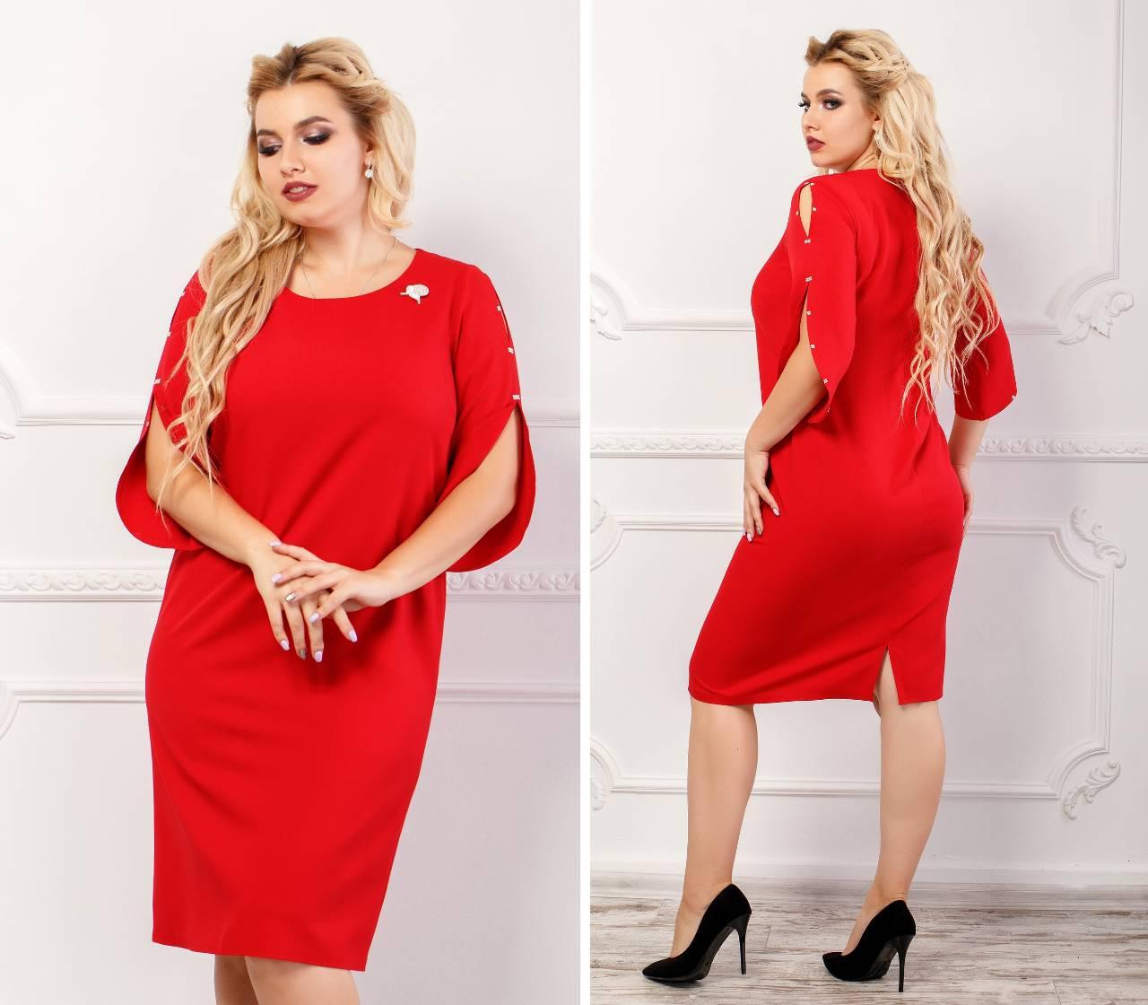 Платье арт. 130 цвет красный