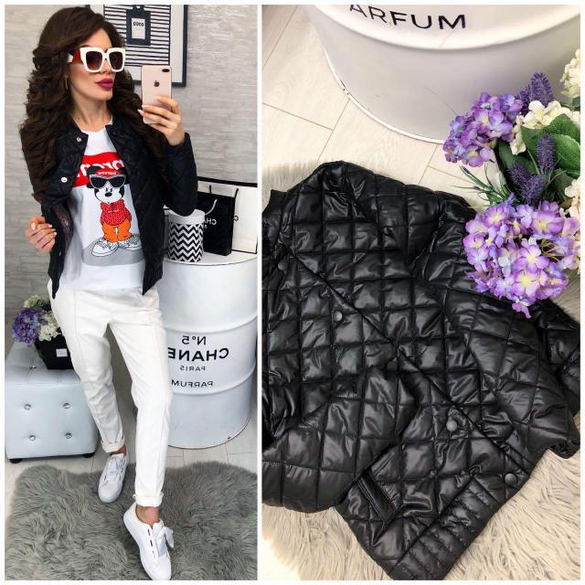 Куртка женская норма 310, новинка 2019 черная