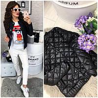 Куртка женская норма 310, новинка 2019 черная, фото 1