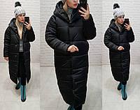 Пуховик-одеяло женский М521 черного цвета