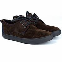 Коричневі кросівки сліпони замшеві чоловіче взуття великих розмірів Rosso Avangard Slip-On Brown-Blu Vel BS, фото 1