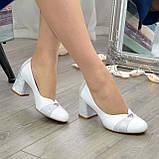 Туфли женские на невысоком устойчивом каблуке, натуральная кожа, фото 6