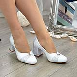 Туфли женские на невысоком устойчивом каблуке, натуральная кожа, фото 7