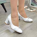 Туфли женские на невысоком устойчивом каблуке, натуральная кожа, фото 8
