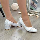 Туфли женские на невысоком устойчивом каблуке, натуральная кожа, фото 9