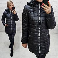 Куртка зима приталенная арт. 212/2 черная / цвет чёрный / черного цвета, фото 1
