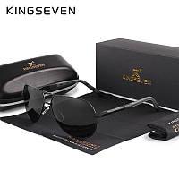 Поляризованные солнцезащитные очки с футляром KINGSEVEN K725 Black Gray, фото 1