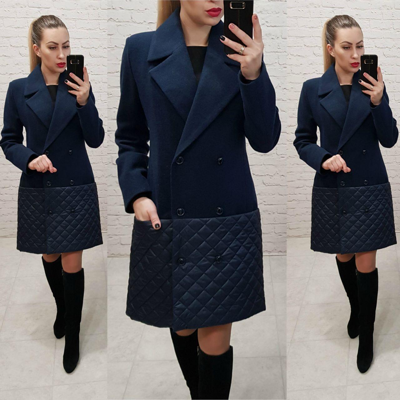 Пальто жіноче весна - осінь арт. 140 синє