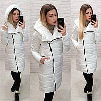 Пальто парка куртка  oversize спорт удлиненное арт. M522 белая