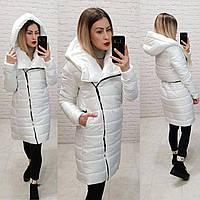 M522 Пальто-куртка  oversize удлиненное белое/ белая/ белый/ белого цвета
