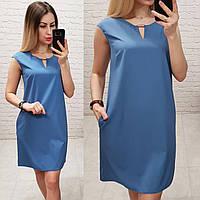 Платье (747/1) джинсовое / джинс / синий джинс