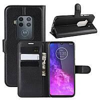 Чехол Luxury для Motorola One Zoom книжка черный