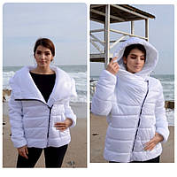 M523 Куртка-парка одеяло короткая белая