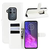Чехол Luxury для Motorola One Zoom книжка белый