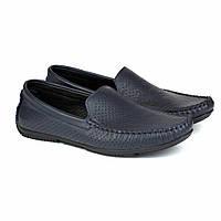 Летние мокасины синие кожа мужская обувь больших размеров Rosso Avangard BS PerfBlu Fly, фото 1