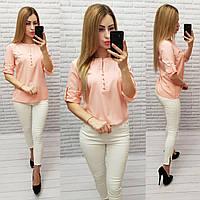 Блуза / блузка арт. 830 персикового цвета / персиковая / персик, фото 1