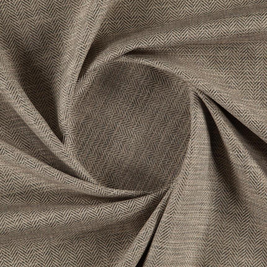 Обивочная ткань рогожка с узором ёлочкой Кафе Фраппе (Cafe Frappe) коричневого цвета