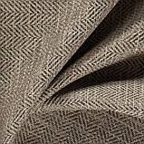Обивочная ткань рогожка с узором ёлочкой Кафе Фраппе (Cafe Frappe) коричневого цвета, фото 3