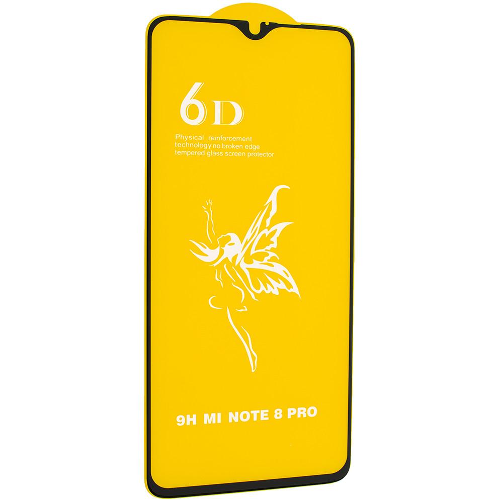 Стекло 6D Redmi note 8  - защитное, premium
