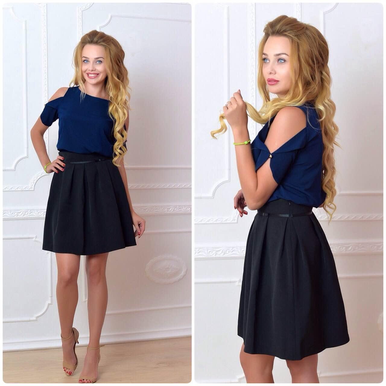 Блузка жіноча, модель 901/1 колір темно синя