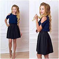 Блузка жіноча, модель 901/1 колір темно синя, фото 1