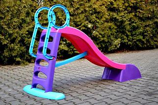 Горка детская Mochtoys 180 см розово-фиолетовая, фото 2